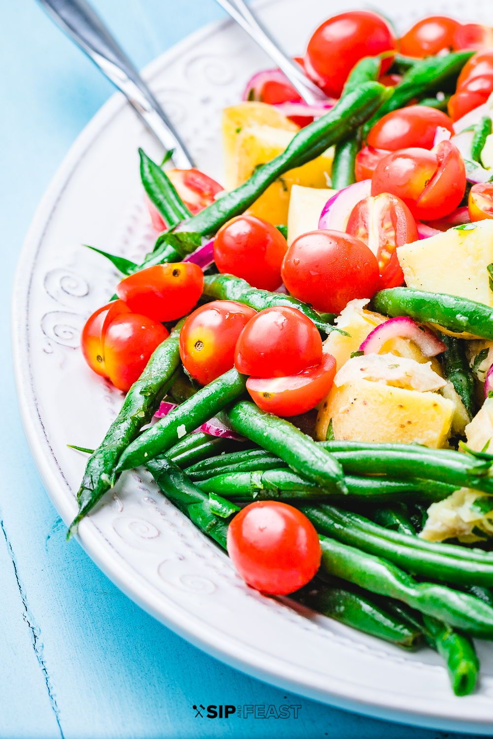 Pin By Sip And Feast Italian Food B On Salad Recipes In 2020 Green Bean Salad Recipes Green Bean Salads Green Beans