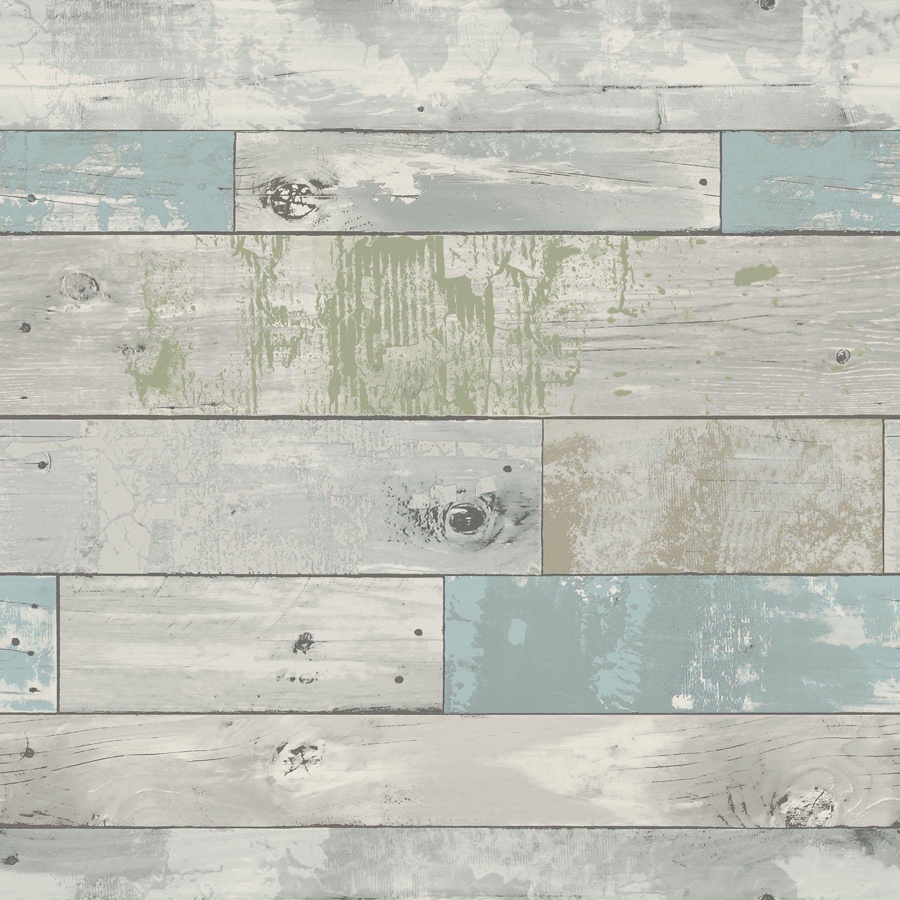 Nuwallpaper Beachwood Peel Stick Wallpaper Sample Walmart Com In 2021 Distressed Wood Wallpaper Wood Wallpaper Nuwallpaper