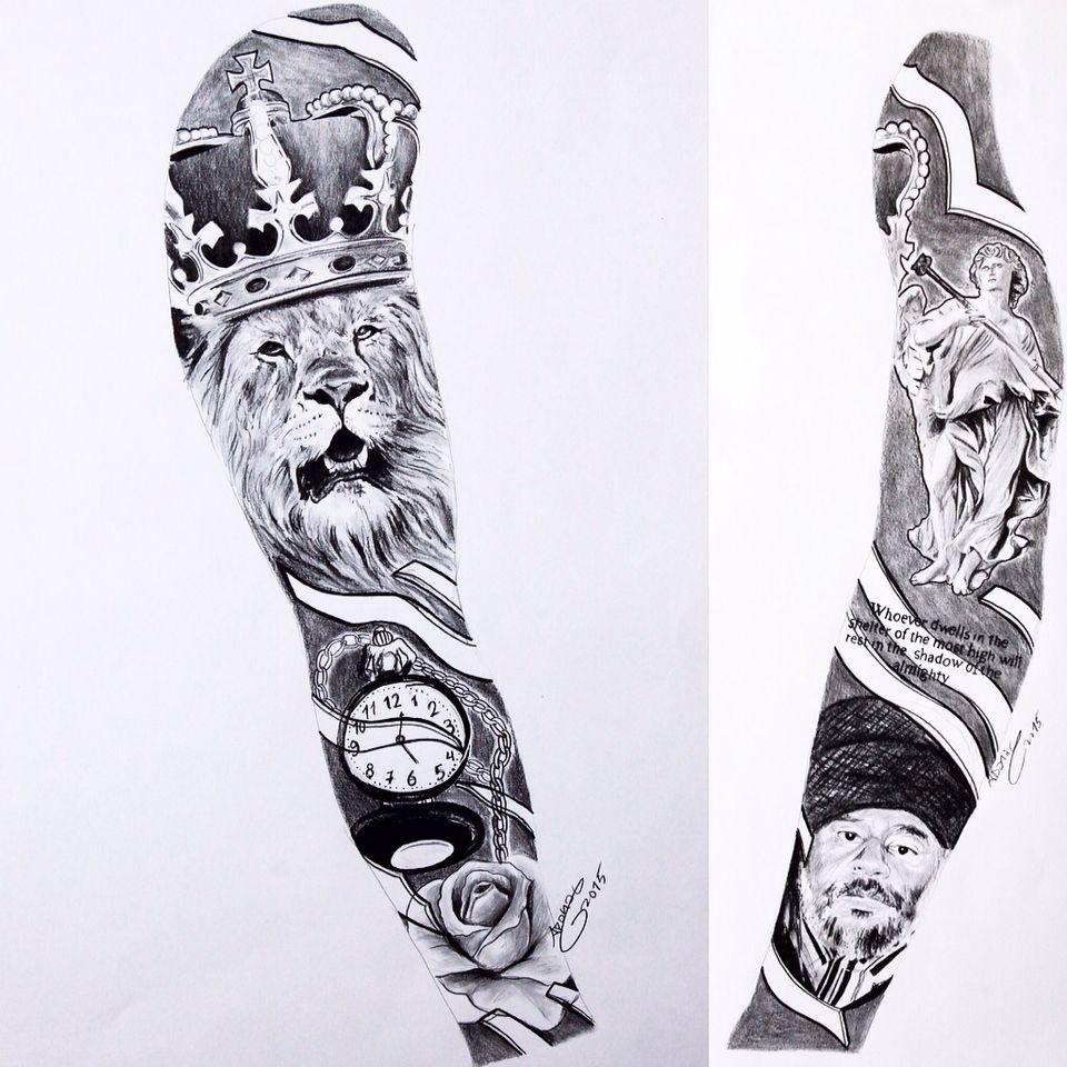 Full sleeve Tatuajes brazo, Tatuajes impresionantes