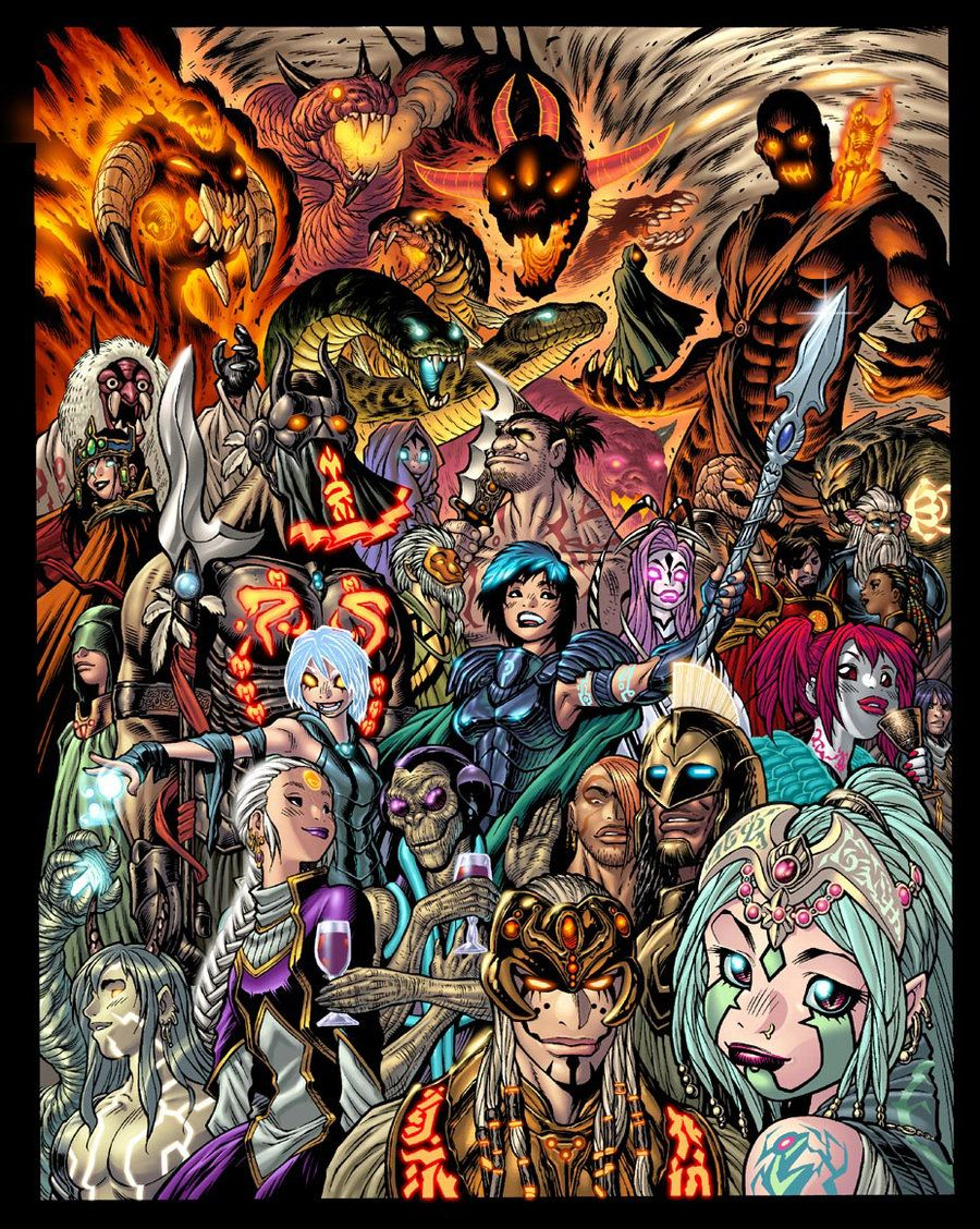 New EXALTED cover colors by AdamWarren on DeviantArt