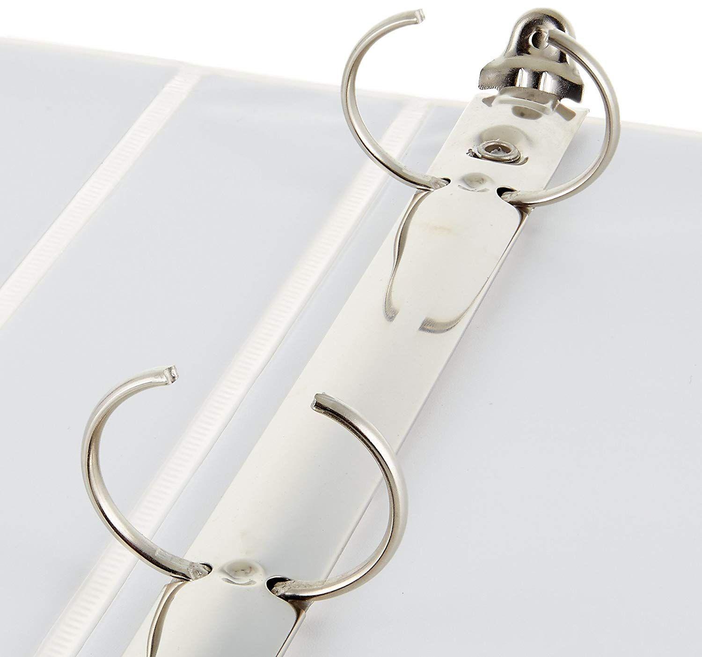 Amazon Com Amazonbasics 3 Ring Binder 1 Inch 4 Pack Black Office Products 3 Ring Binders Ring Binder Rings