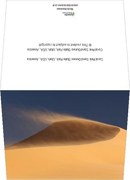 Greetings Card-Coral Pink Sand Dunes State Park, Utah, USA, America-6x8 inch Greetings Card made in the UK