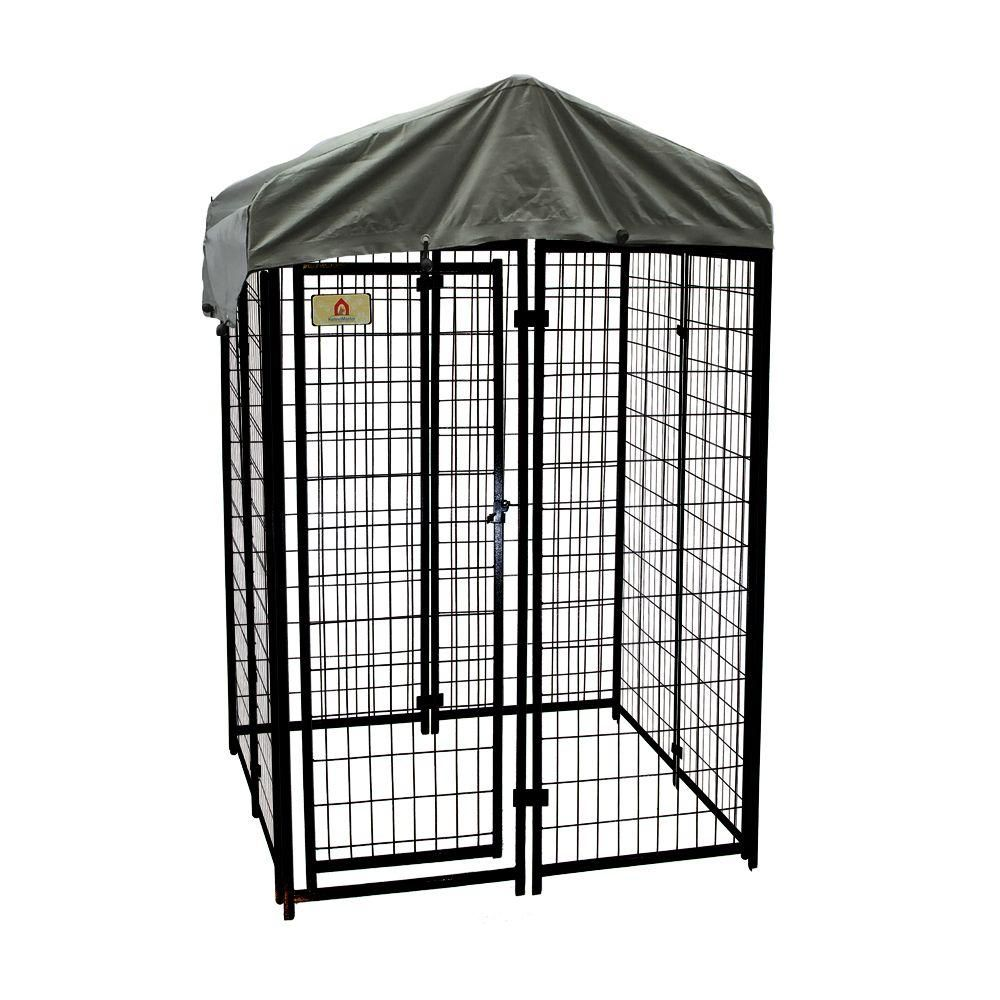 4 ft. x 4 ft. x 6 ft. Welded Wire Dog Fence Kennel Kit   Dog fence ...
