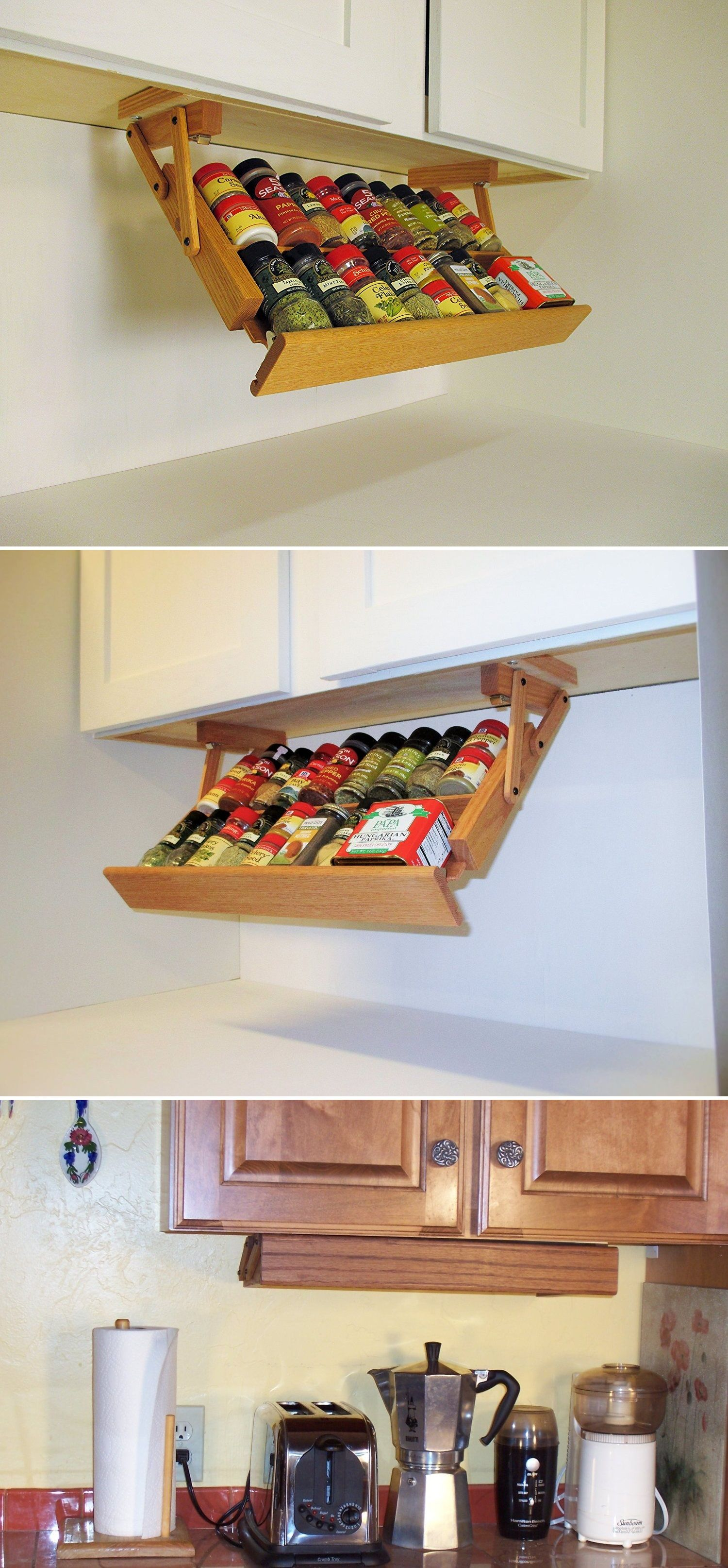 Ultimate Kitchen Storage Under Cabinet Spice Rack