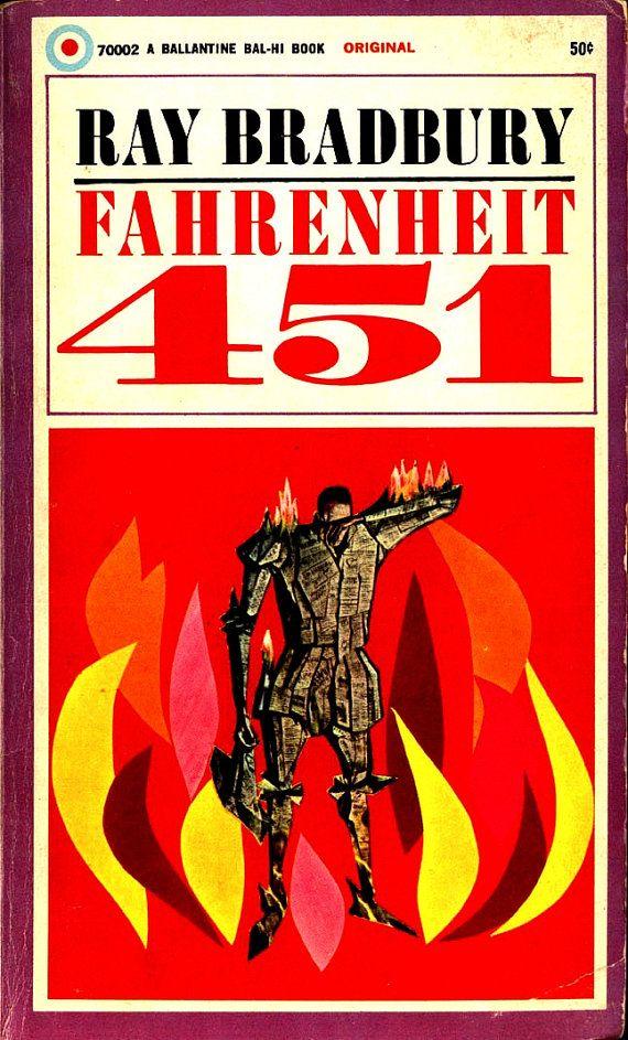 Fahrenheit 451 Ray Bradbury Original Cover Art By Joe