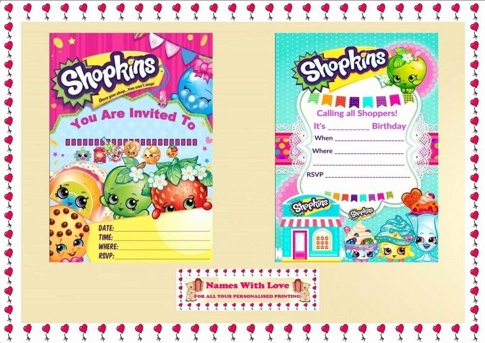shopkins birthday invitation template