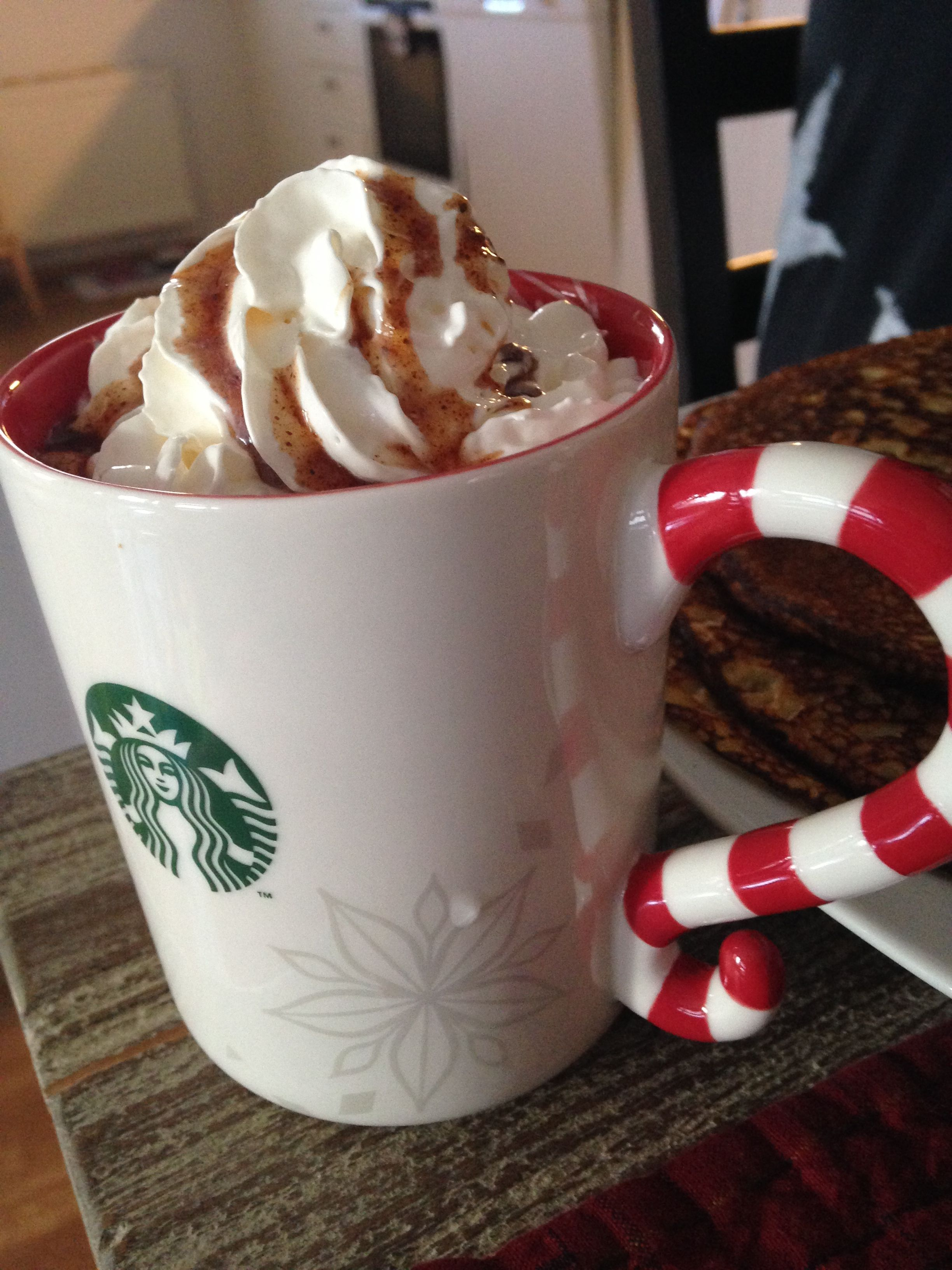Starbucks. home made gingerbread coffee with whipped cream