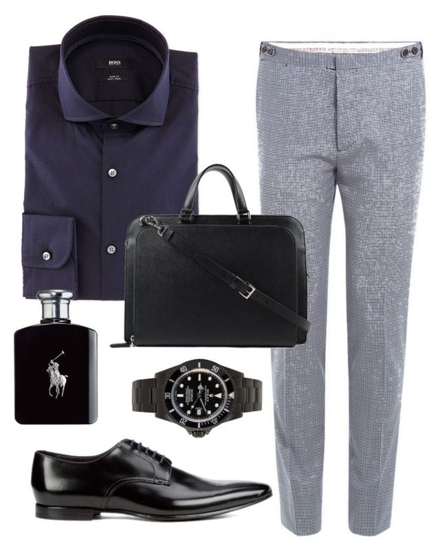 """men 7"" by freshdee on Polyvore featuring BOSS Hugo Boss, Dsquared2, Paul Smith, Prada, Ralph Lauren, mens, men, men's wear, mens wear and male"
