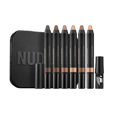 nude(art)ist magnetic eye box set by NUDESTIX. An eye kit with six, long-wearing, waterproof, and smudge-proof, magnetic matte and radiant eye colors in neutral sha...