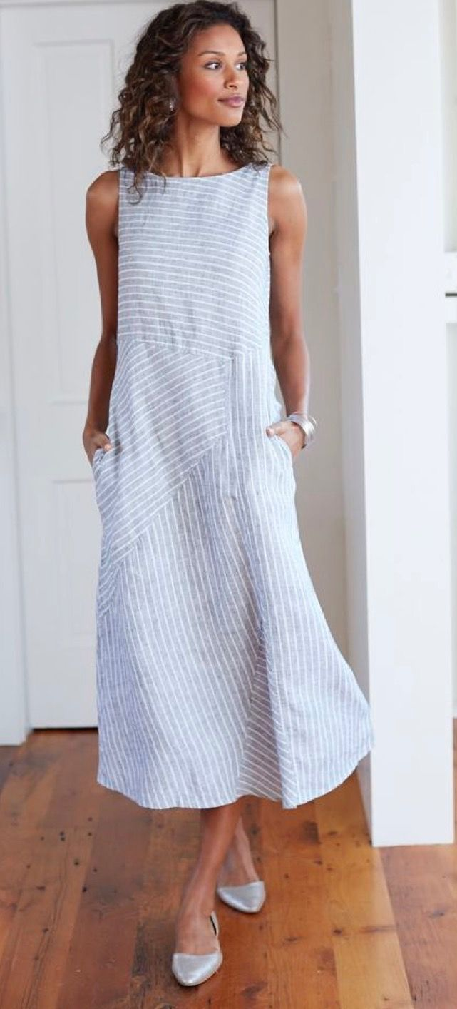 db91459b74ef Simple beautiful. Love the texture of the fabric placed in different  angles. Linen Dress