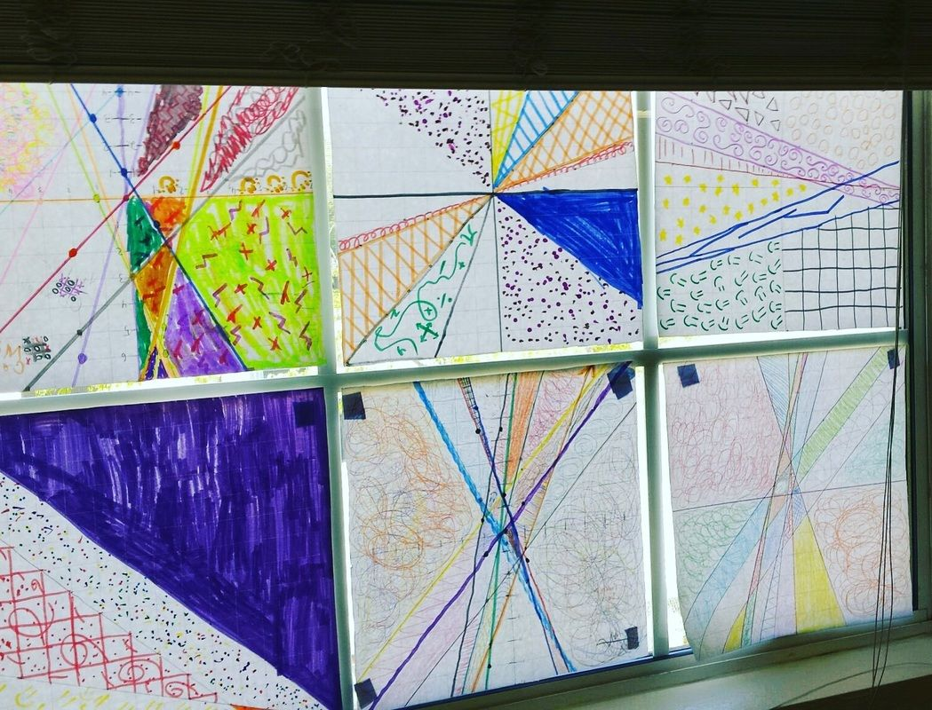 Linear Equations Stained Glass Lesson 8th Grade Math