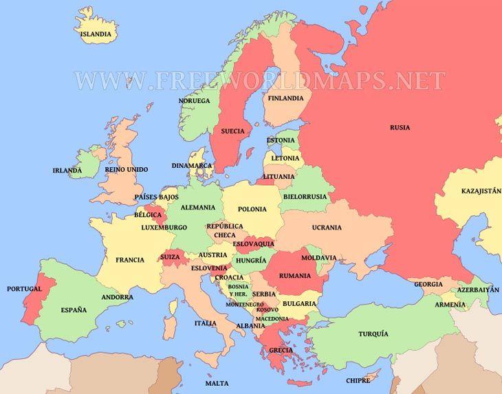 mapa de europa - Buscar con .