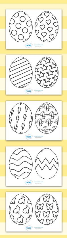 Easter Egg Templates Ks1 Colouring Sheets Easter Egg Template Easter Preschool Easter Colouring
