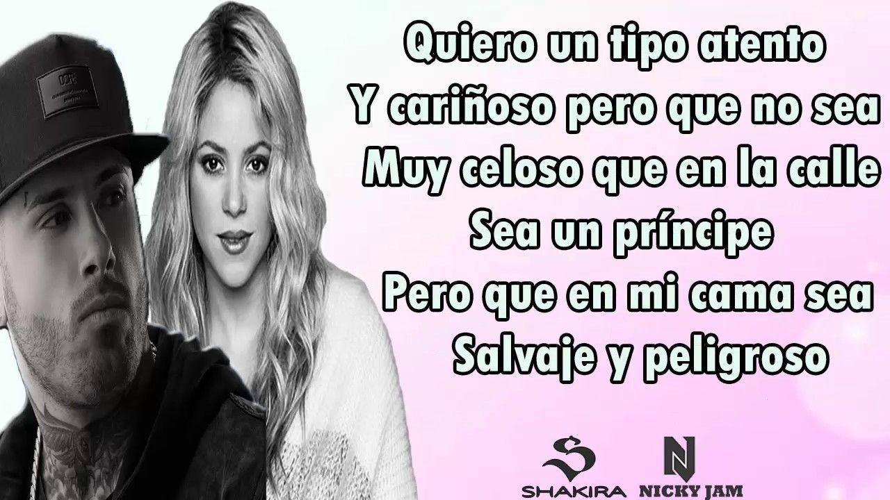 Shakira Ft Nicky Jam Perro Fiel Letra Shakira Letras Letras De Canciones Perro Fiel