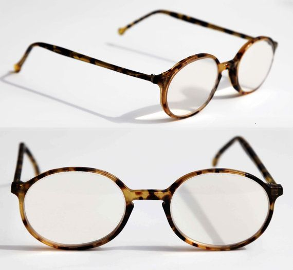 deaac07781f Vintage Round Eye Glasses Key Hole Thick Tortoise Shell Prescription  Glasses with Spotty Brown Frames for Women or Teens