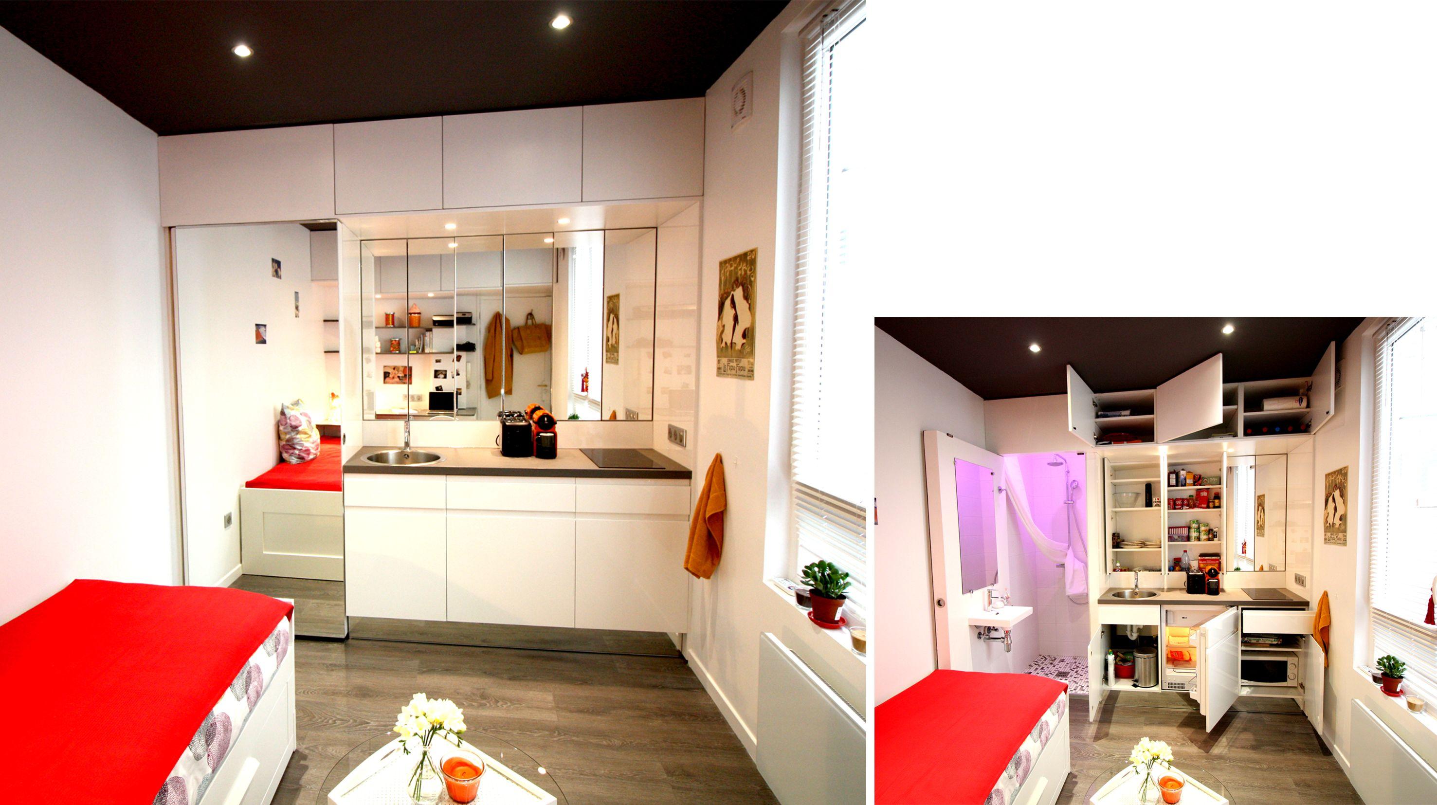 Architecte D Intérieur Lille studio 9m² ] | boddaert architecte d'interieur lille | small