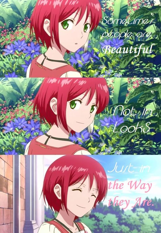 Just In The Way You Are Snow White With Red Hair Snow White With The Red Hair Anime Red Hair Quotes