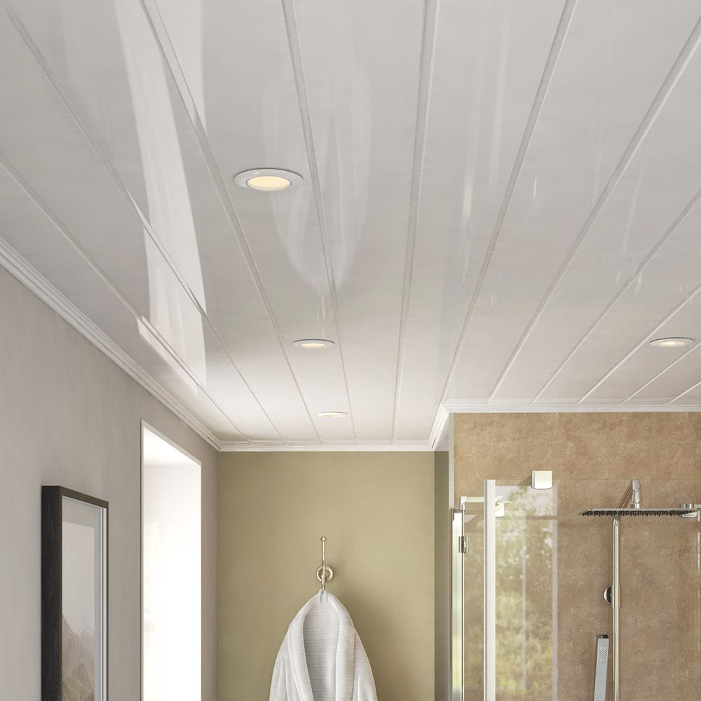 Double White Ceiling Panel 2700mm Gloss White With Two 8mm Recesses Every 250mm Fast And Easy To Bathroom Wall Panels Bathroom Ceiling Panels Ceiling Panels