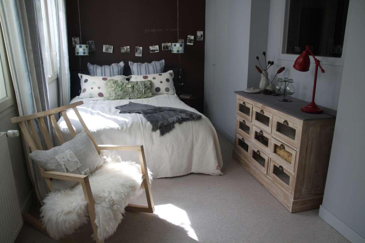 Chambre Rectangulaire De 10 à 20m2 Classique Blanc Chocolat Moquette ...