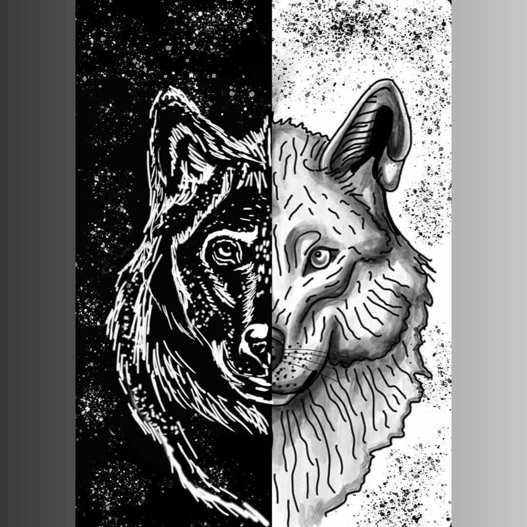 Two Wolves Are Fighting Within You One Of Darkness Despair Another Of Light Hope Which Wolf Wins Whichever One You Feed Artwork Two Wolves Art