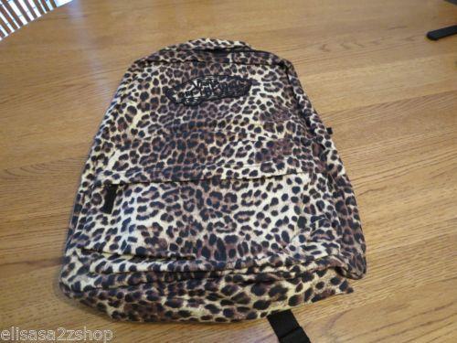 Girls juniors book bag back pack bookbag surf skate Vans animal print cheetah