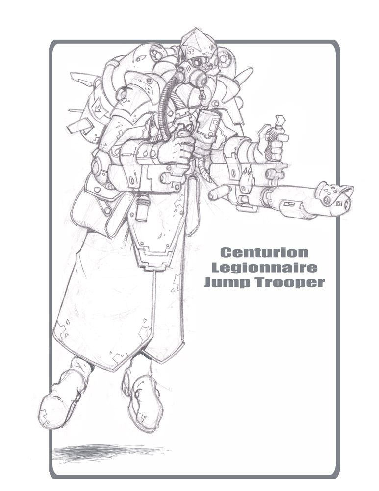 Legionnaire Jump Trooper by cwalton73