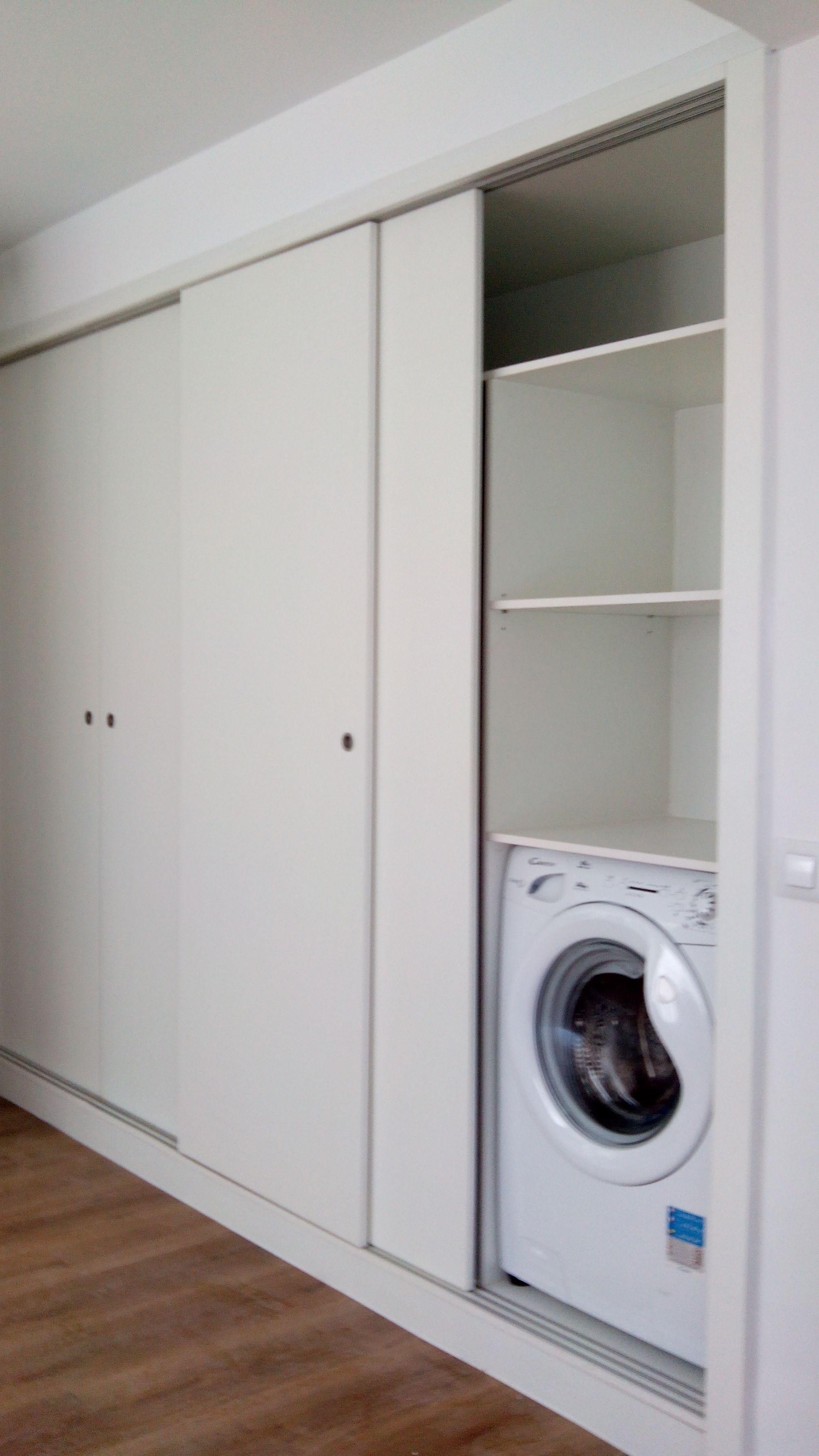 C mo ocultar la lavadora cocinas pinterest oculto for Mueble para lavadora