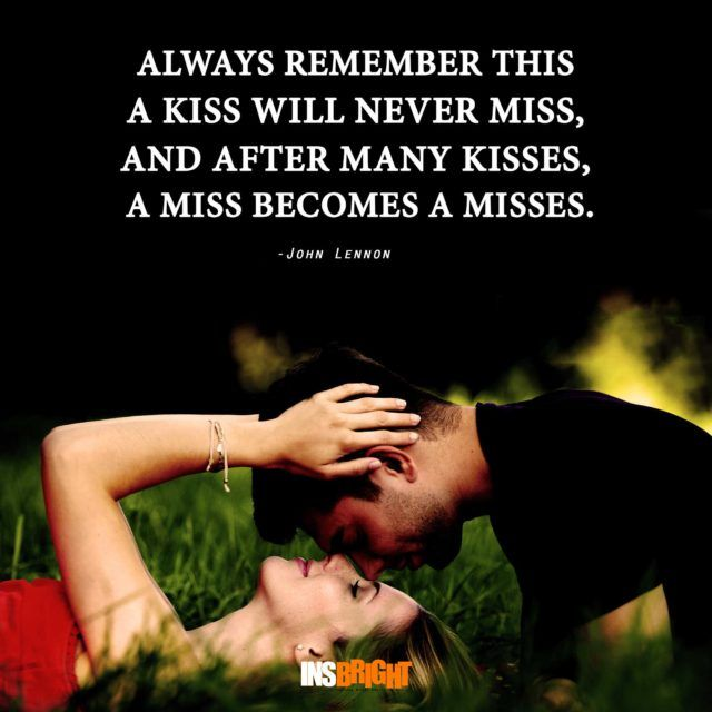 Romantic Love Kiss Quotes For Him Or Her Kissing Quotes With