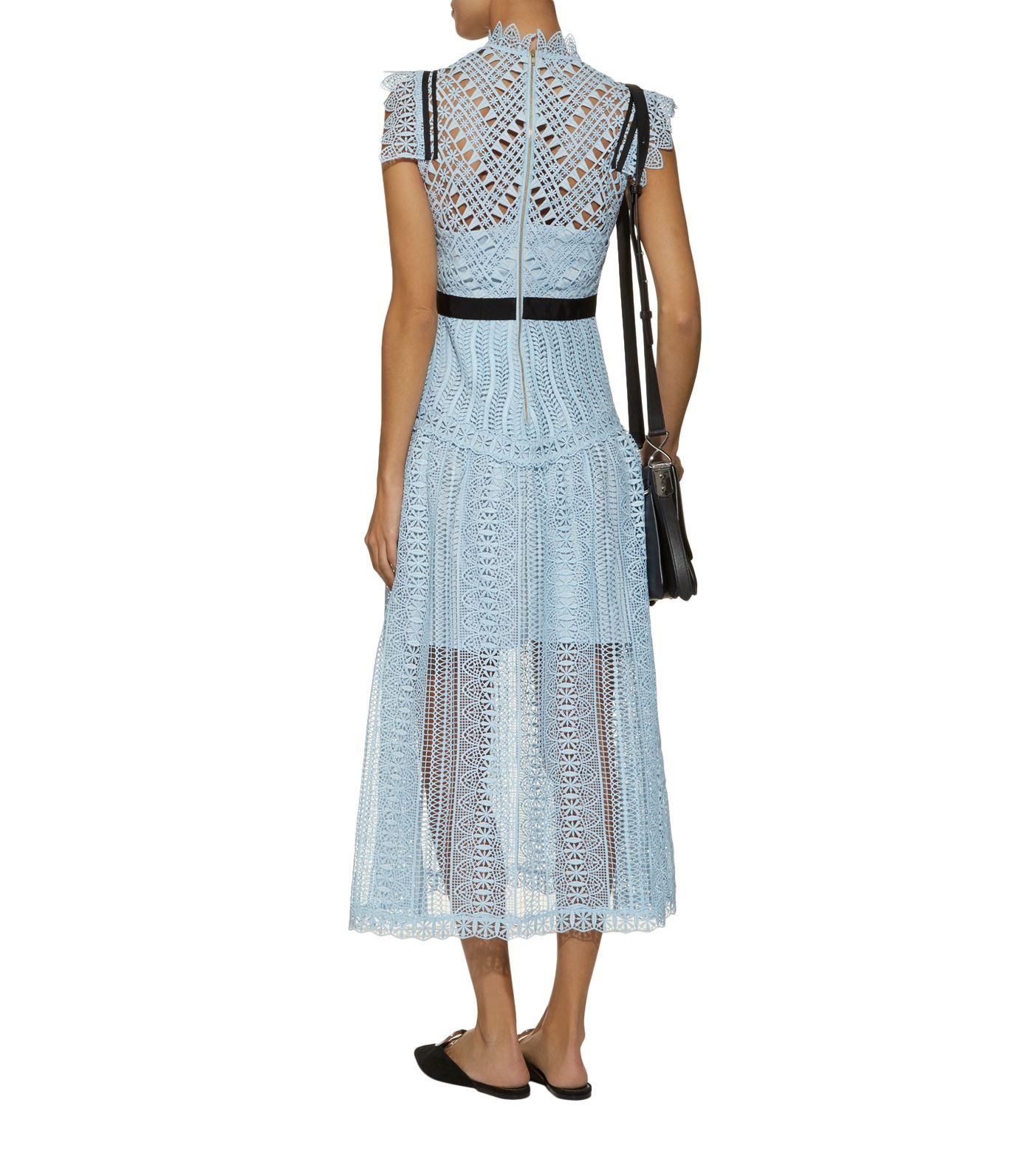 a329abba8e98d2 Self-Portrait Triangle Lace Midi Dress  AD