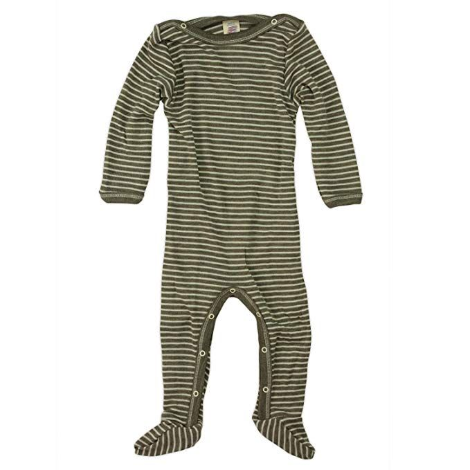 361befa12 Engel 70% Organic Wool 30% Silk Baby Footed Pajamas Sleep Overall:  Walnut/Natural: 12-24M