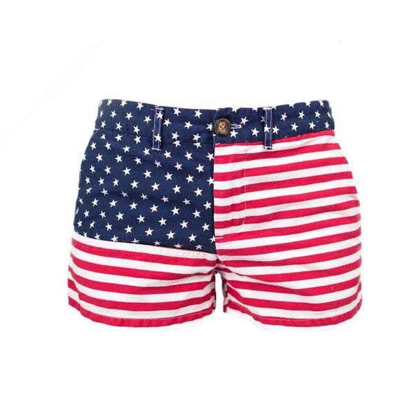 Ladies This Is Your New 4th Of July Go To These Women 39 S American Flag Shorts Are Made Right Her American Flag Shorts Chubbies Shorts Elastic Waist Shorts