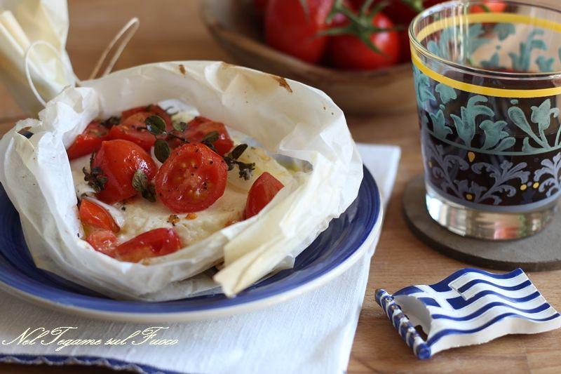 Feta+al+cartoccio+alla+greca/+ricetta+tipica