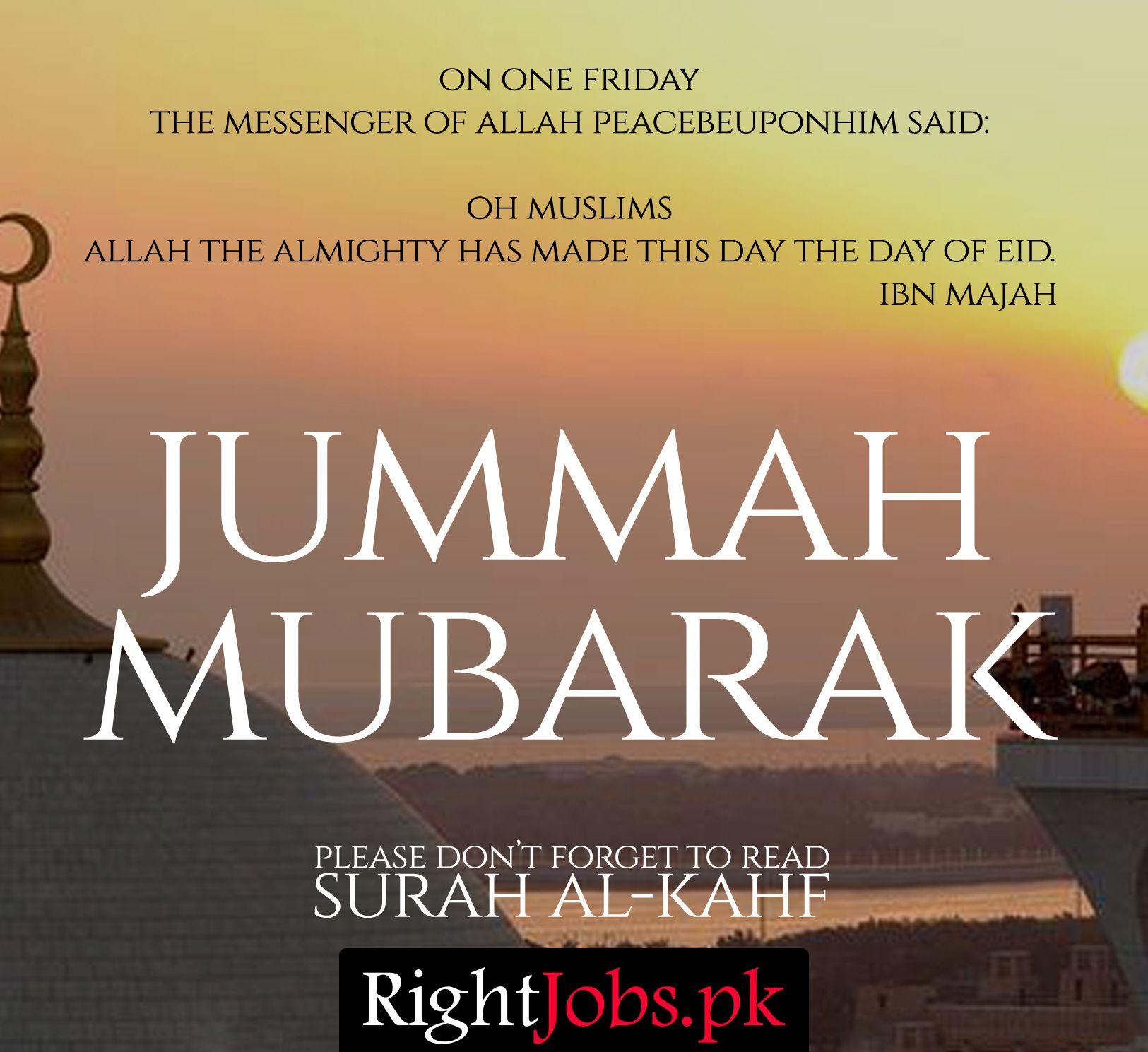 Pin by Right Jobs. Pk on Job Portal Jumma mubarak