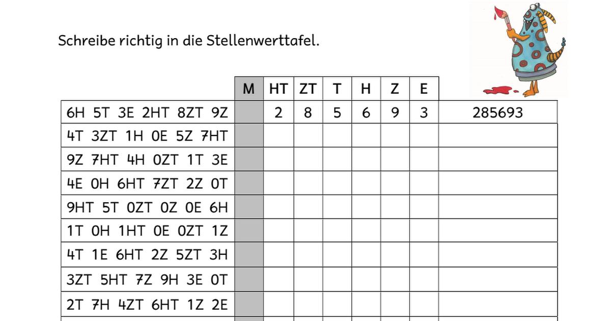 Übungsblätter zum Zahlenraum bis 1 Million - Gesamt.pdf | Bildung ...