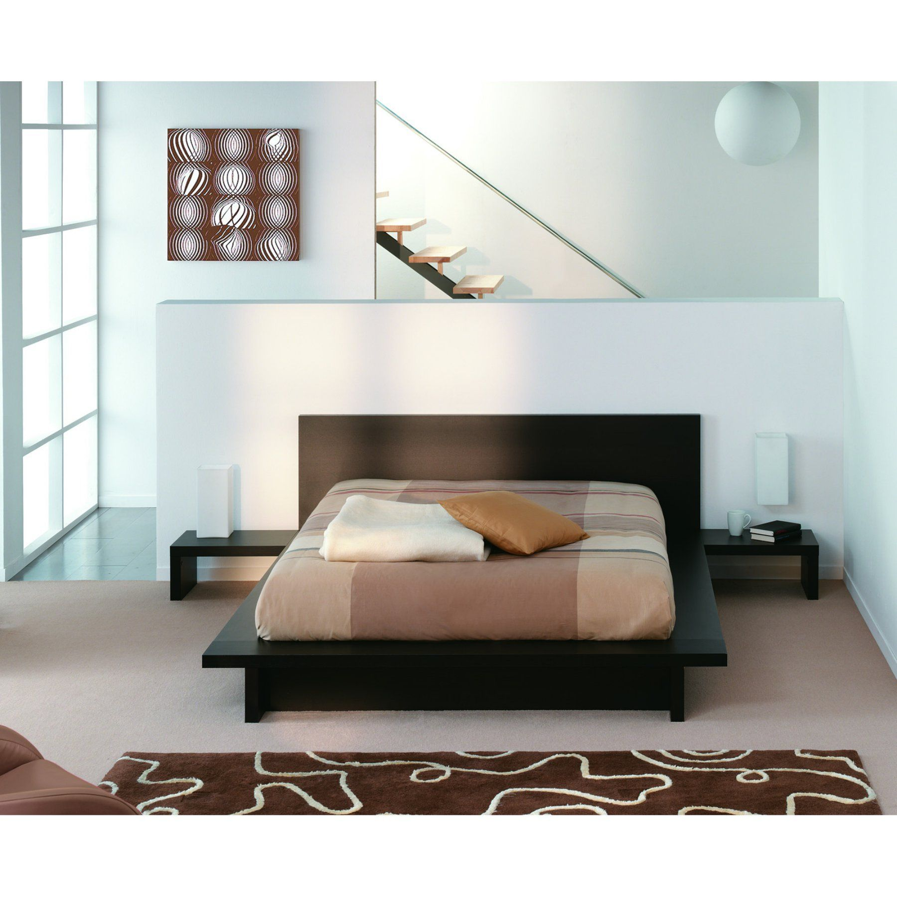 Tema Home Sono Queen Size Bed with Attached Nightstands