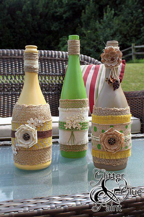 "Glass Bottle Decorations Make Outdoor Oil Lamps  ""diy Home Decor Ideas""  Pinterest  Oil"