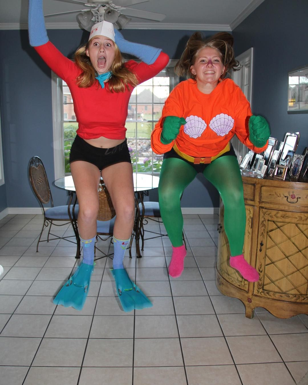 Mermaid Man And Barnacle Boy Such Unique Diy Halloween Costumes To Rock Wit Trendy Halloween Costumes Halloween Costume Outfits Funny Group Halloween Costumes