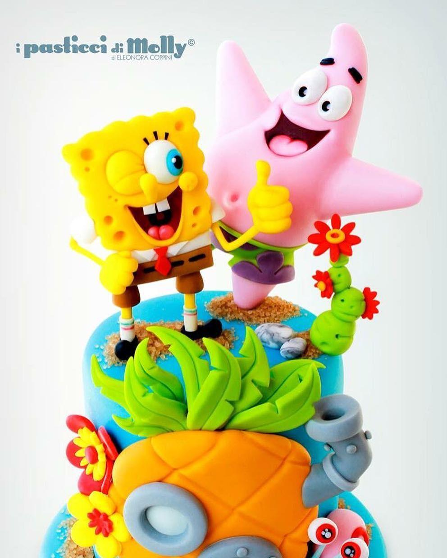 "201 Me gusta, 4 comentarios - Cake Design - Isomalto (@molly_eleonora_coppini) en Instagram: ""Spong Cake #spongebob #patrick"""