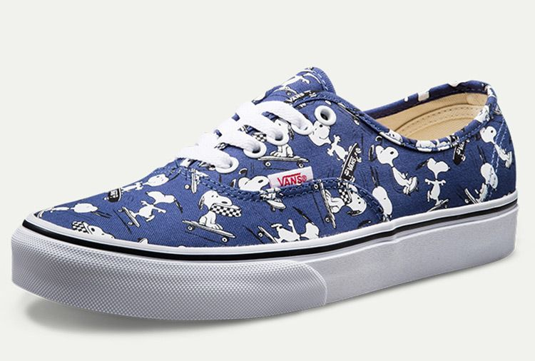f651cca1ad Vans X Peanuts Snoopy Blue Authentic Skate Shoes For Sale  Vans ...