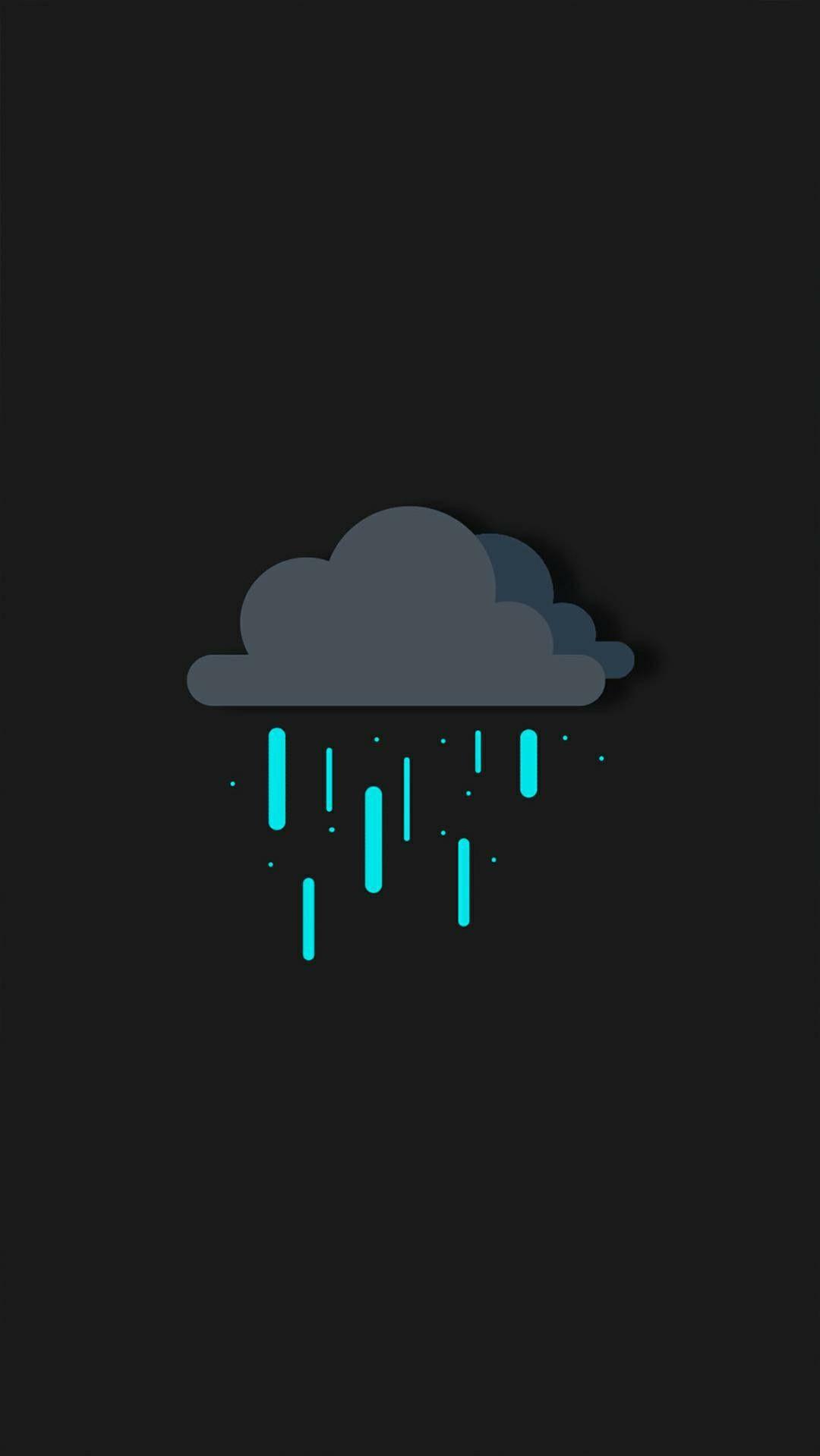 Digital-Clouds-Rain-iPhone-Wallpaper - iPhone Wallpapers
