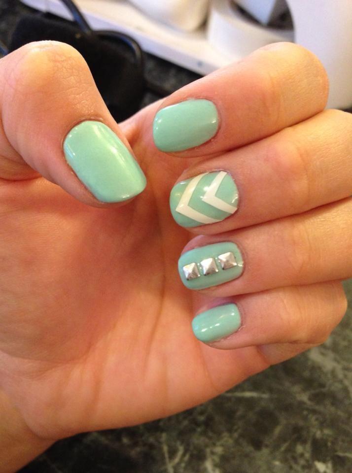 Top 20 Studded Nail Designs You Should Have | Stud nails and Green nail