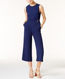 3f063e955644 MICHAEL Michael Kors Cropped Wide-Leg Jumpsuit Jumpsuits For Women