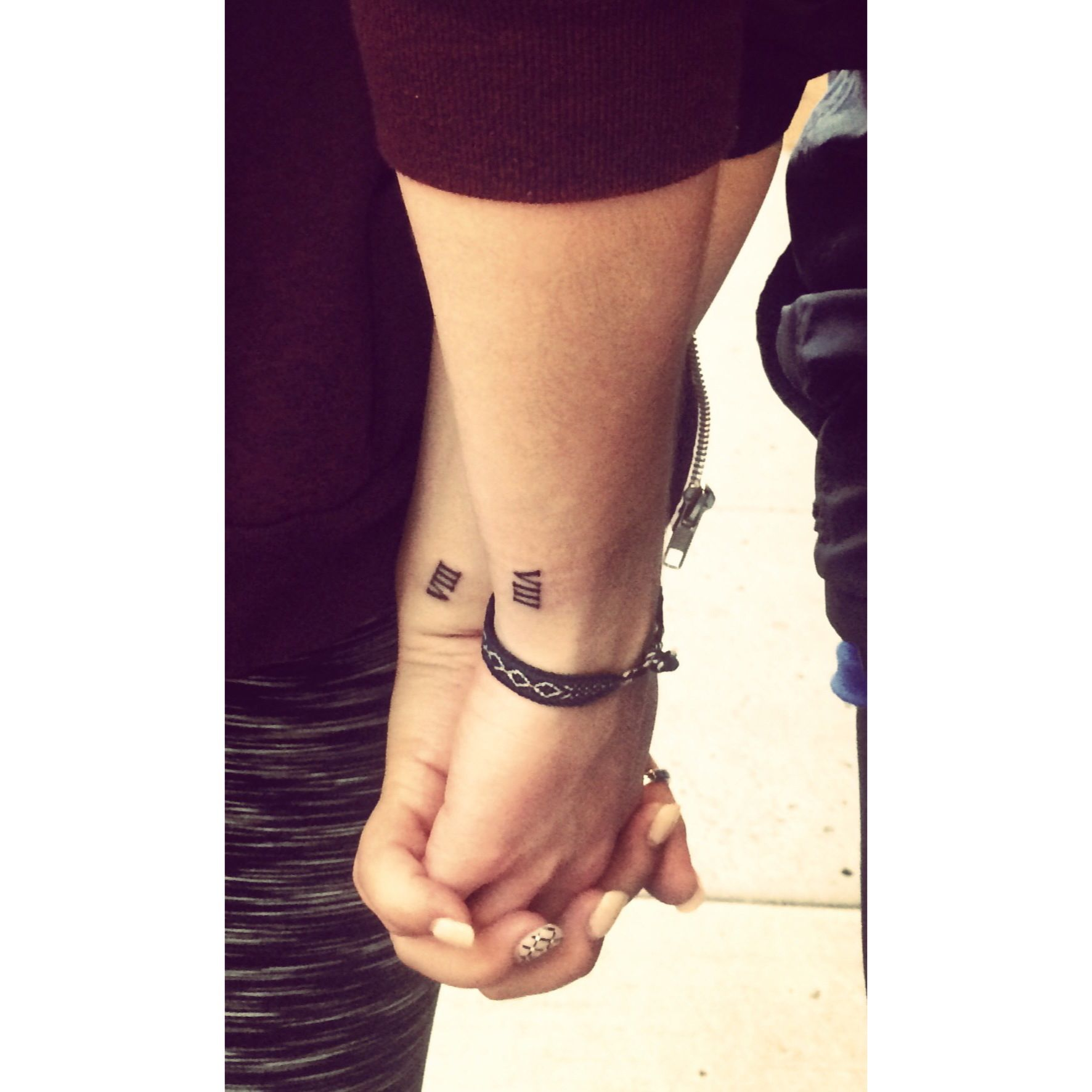 matching family tattoos with my best friend eres tatuaje