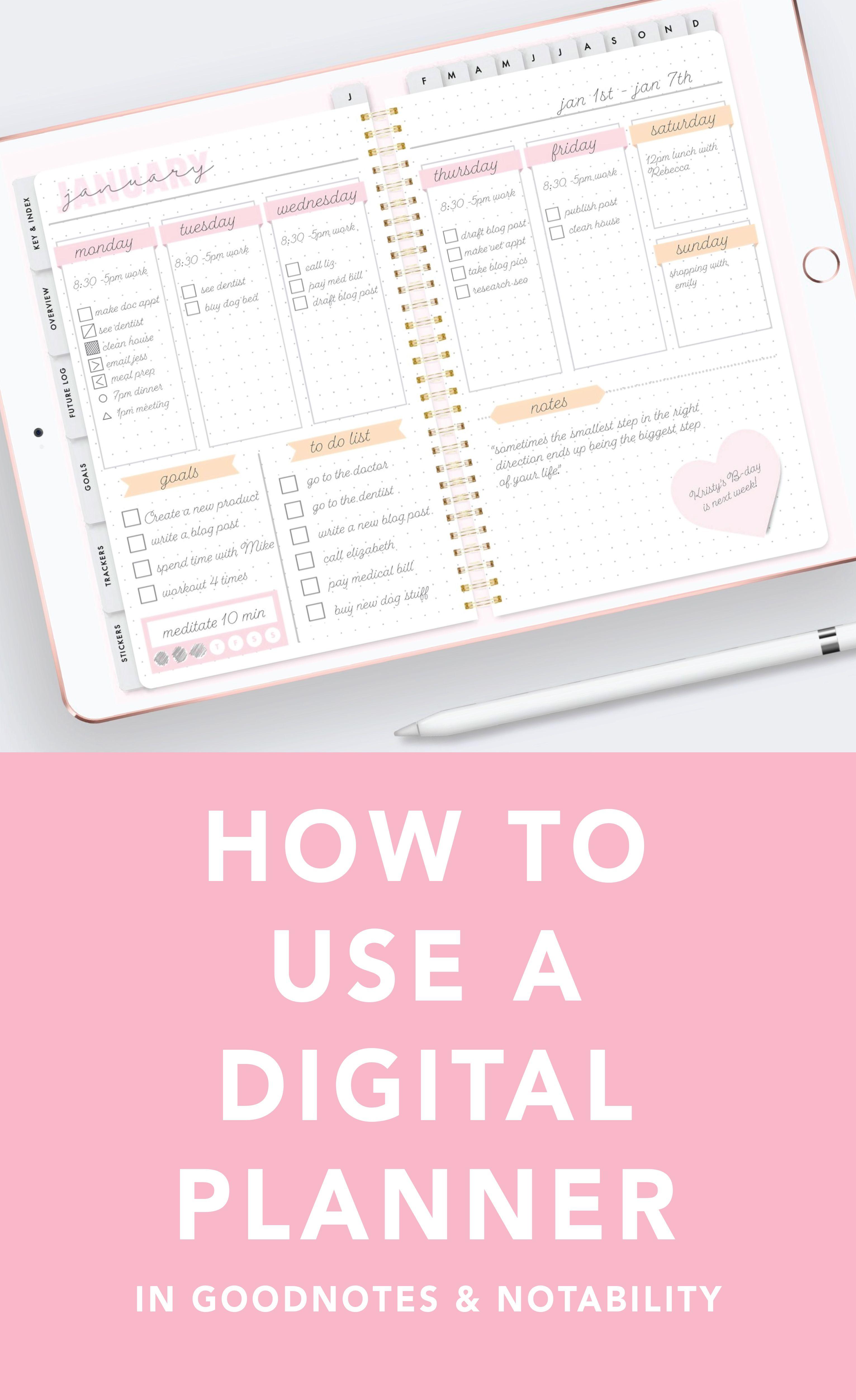 So verwenden Sie einen Digital Planner für das iPad Pro