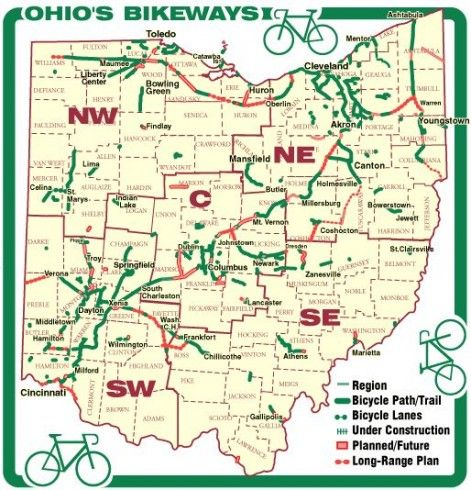 Top Car Free Bike Routes In The Midwest Bicycle Trail Bike Route Miami Bike