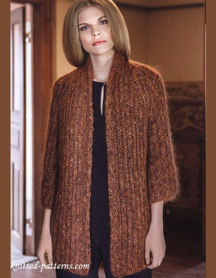 Raglan sleeve jacket knitting pattern free | Knit cardigan ...
