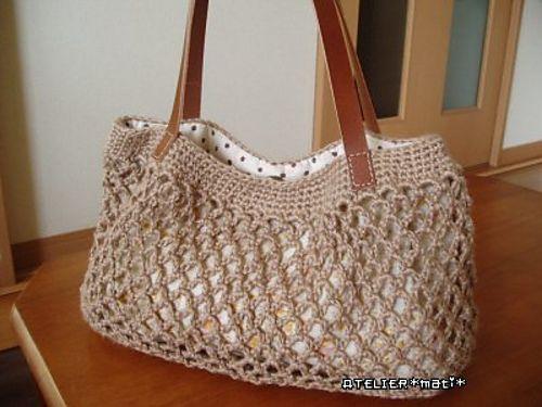 Simple Net Crochet Bag: free pattern   Crochet ~ Bags & Purses ...