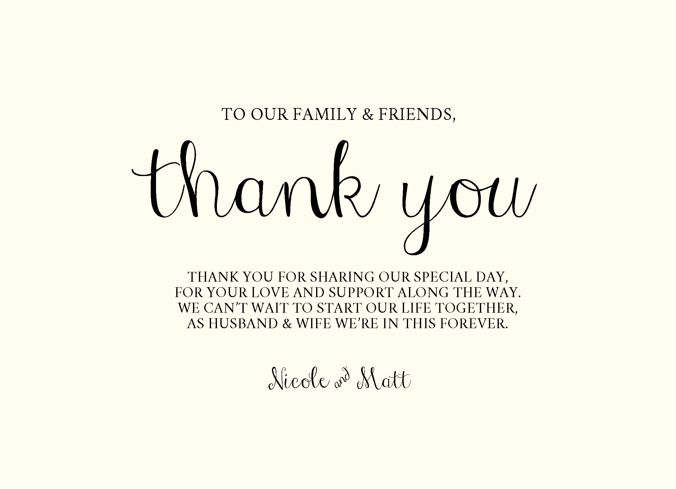 Say #ThankYou | Customizable with your own details | CatPrint Design #404