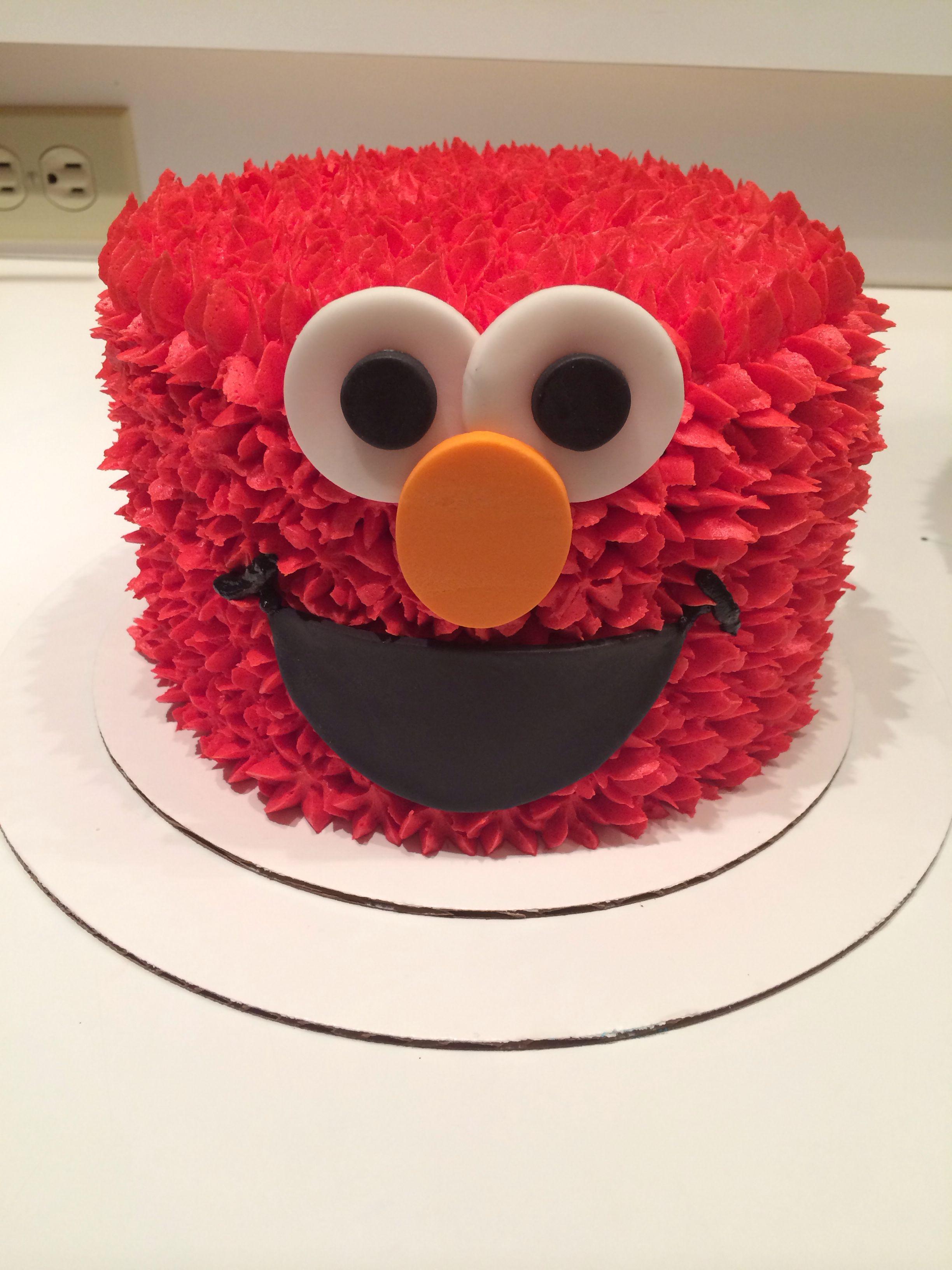 Elmo Smash Cake My Creations Elmo Smash Cake Elmo Cake Sesame