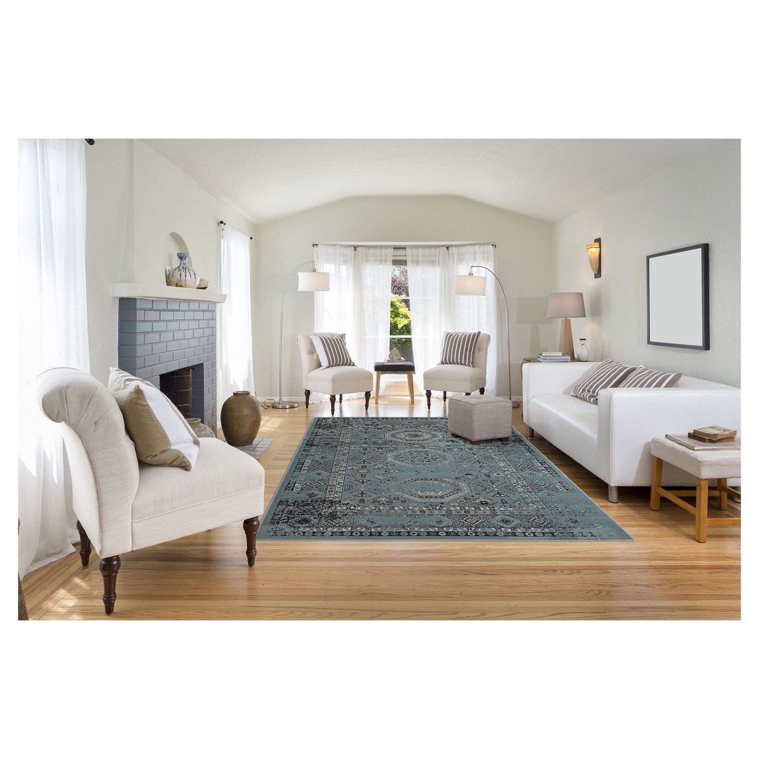 Add vintage appeal to your home with the ryan overdyed rug from